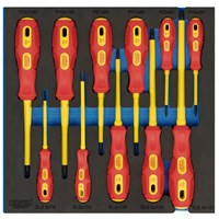 Draper VDE Insulated Screwdriver Set 11 Piece In Eva Insert Tray