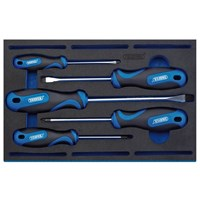 Draper 5 Piece Soft Grip Screwdriver Set In Eva Insert Tray