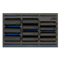 "Draper 11 Piece 1/2"" Drive Impact Socket Set In Eva Insert Tray"