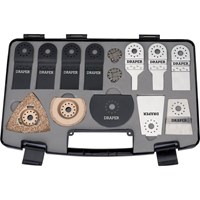 Draper 14 Piece Oscillating Multi Tool Accessory Set