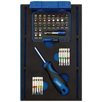 Draper 40 Piece Screwdriver & Bit Set in Eva Insert Tray