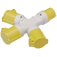 Draper 3 Way 110v Socket Splitter