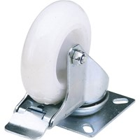 Draper Swivel Plate Fixing Nylon Wheeled Caster & Brake