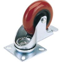 Draper Swivel Plate Fixing Polyurethane Wheeled Caster & Brake