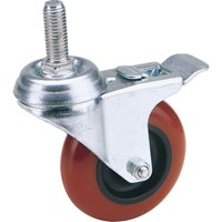 Draper Swivel Bolt Fixing Polyurethane Wheeled Castor & Brake