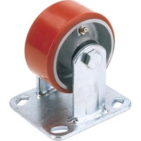 Draper Fixed Plate Fixing Heavy Duty Polyurethane Wheeled Casorr