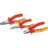 Draper Expert 3 Piece VDE Insulated Plier Set