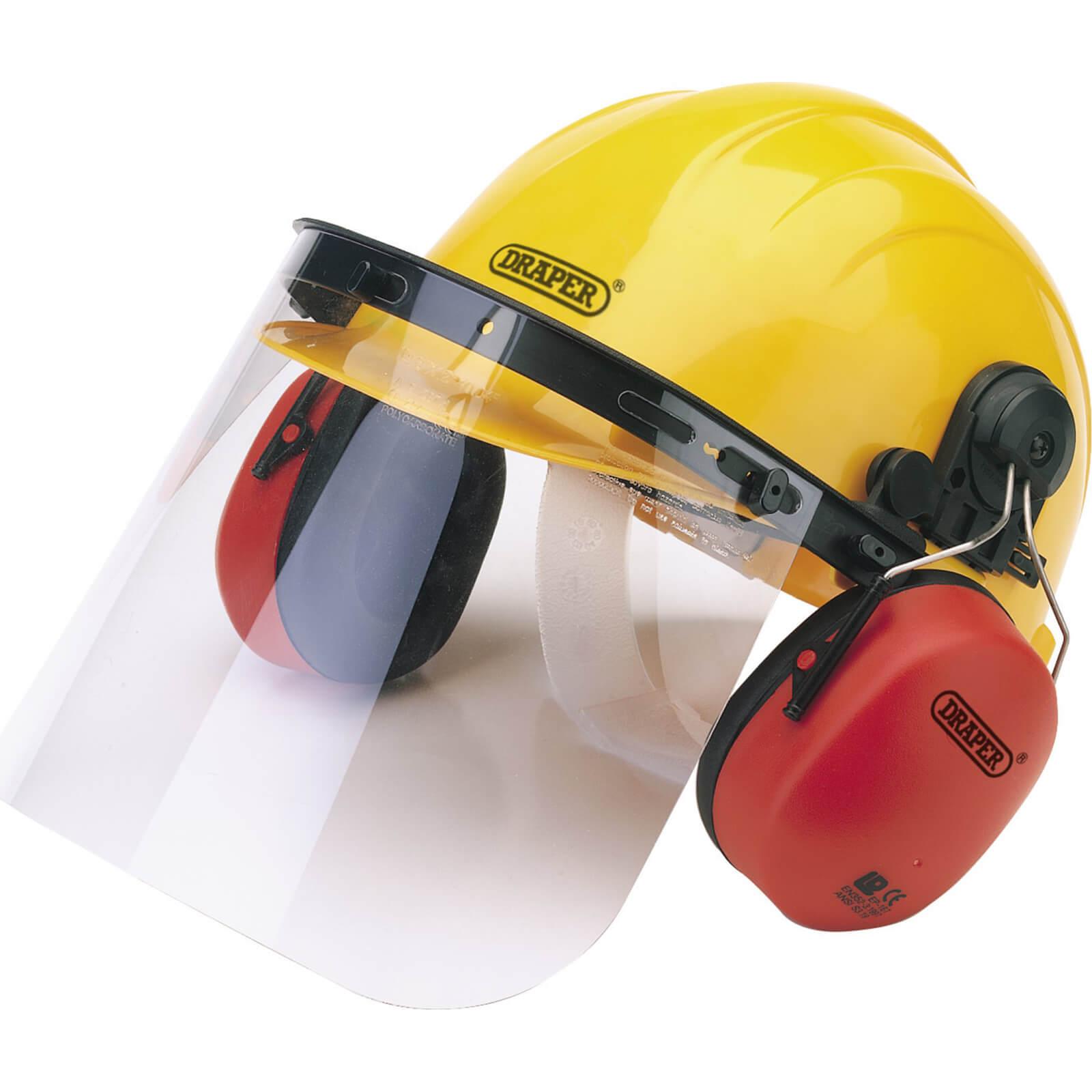 Draper Hard Hat Safety Helmet Visor & Ear Defenders