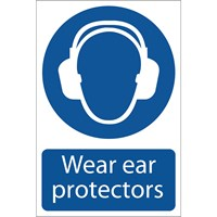 Draper Wear Ear Protectors Sign