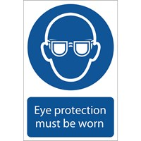 Draper Eye Protection Must Be Worn Sign