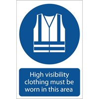 Draper High Visibility Clothing Must Be Worn In This Area Sign