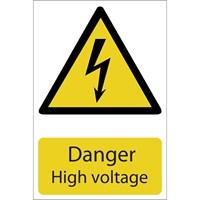 Draper Danger High Voltage Sign