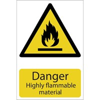 Draper Danger Highly Flammable Material Sign