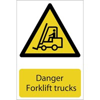 Draper Danger Forklift Trucks Sign