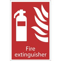 Draper Fire Extinguisher Sign