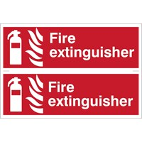 Draper Fire Extinguisher Sign Pack of 2