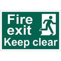 Draper Fire Exit Keep Clear Sign