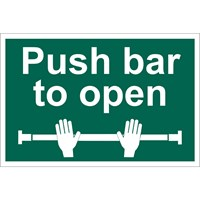 Draper Push Bar To Open Sign
