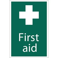 Draper First Aid Sign