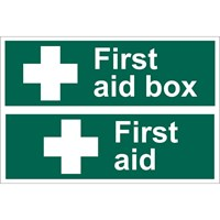 Draper First Aid Box Sign
