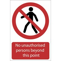 Draper No Unauthorised Persons Beyond This Point Sign