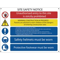 Draper Site Safety Notice Sign