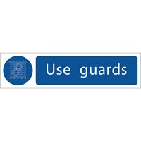 Draper Use Guards Sign