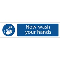 Draper Now Wash Your Hands Sign