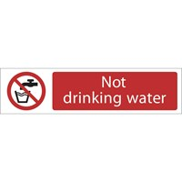 Draper Not Drinking Water Sign