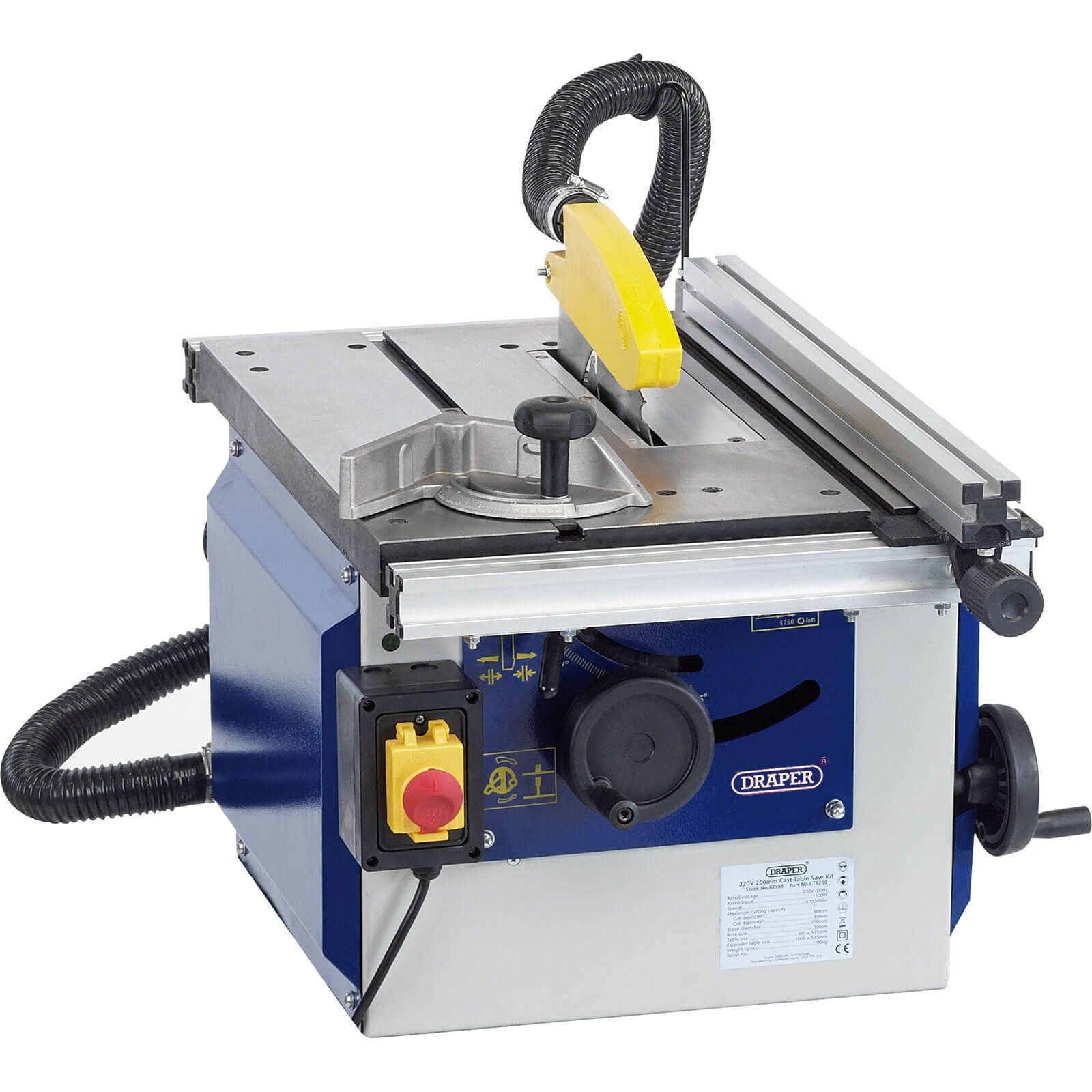 Draper Cts200a Cast Iron Table Saw