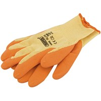 Draper Orange Heavy Duty Latex Coated Work Gloves