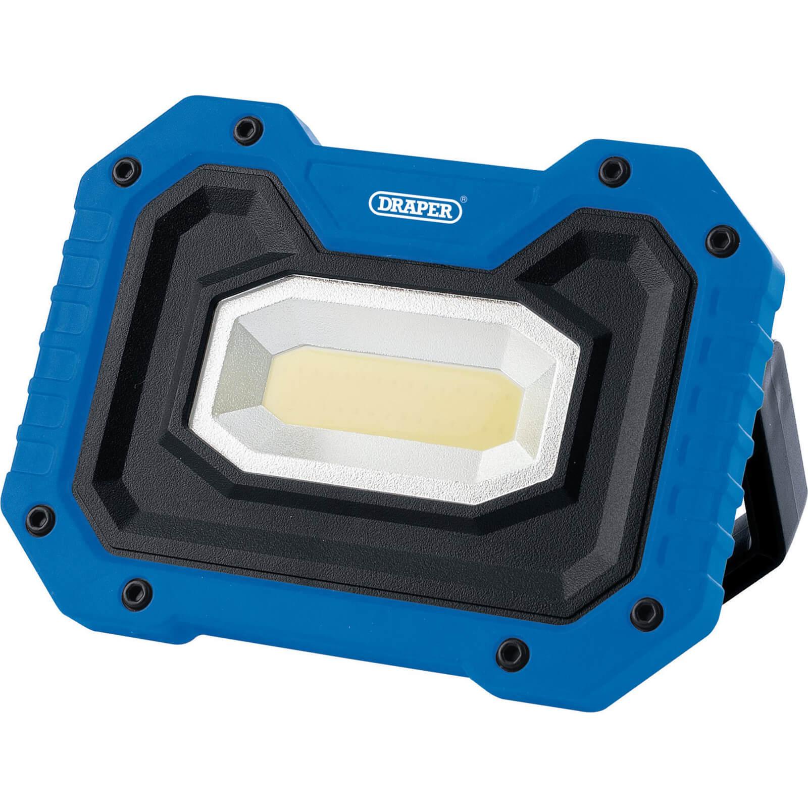 Draper Rechargeable Work Light Power Bank and Wireless Speaker Blue