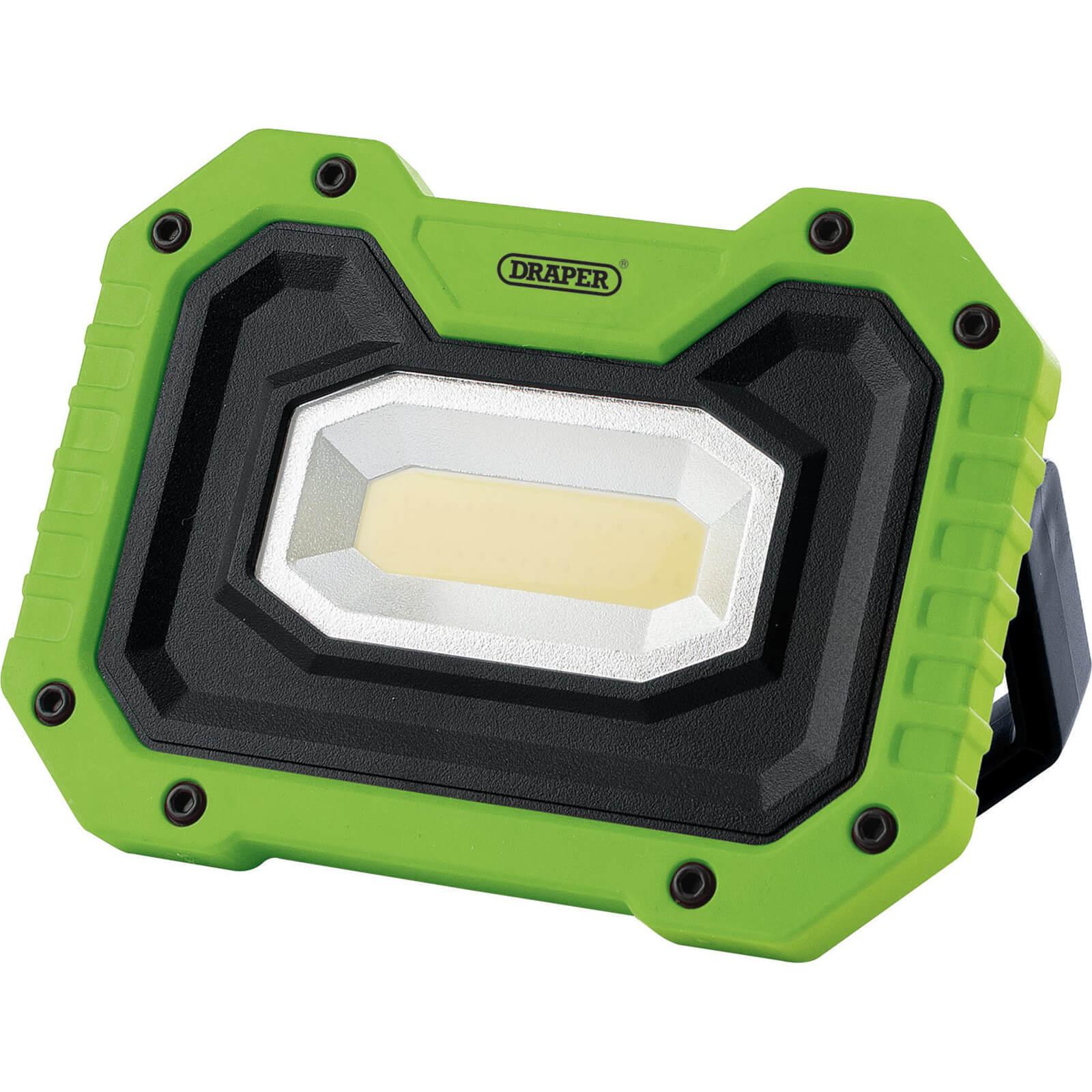 Draper Rechargeable Work Light Power Bank and Wireless Speaker Green