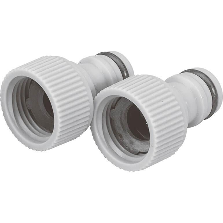"""Image of Draper 1/2"""" BSP Garden Hose Tap Connector 26.5mm"""