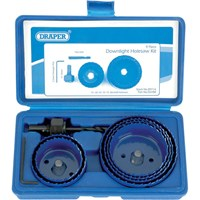 Draper 9 Piece Downlight Installation Hole Saw Set