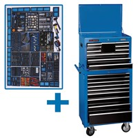 Draper Mechanics Megakit Roller Cabinet, Top Chest and 700 Piece Tool Kit