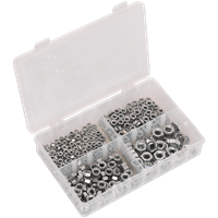 Sealey 370 Piece Steel Nut Assortment Metric