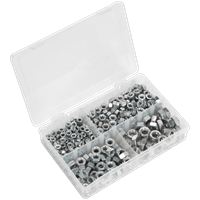 Sealey 320 Piece Steel Nut Assortment Imperial UNF