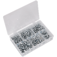 Sealey 390 Piece Serrated Flange Nut Assortment Metric