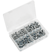 Sealey 300 Piece Nylon Lock Nut Assortment Metric