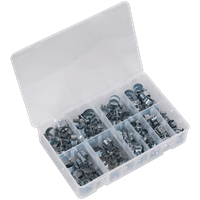 Sealey 100 Piece Mini Zinc Plated Hose Clip Assortment
