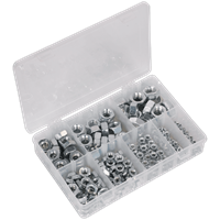 Sealey 255 Piece Steel Nut Assortment Metric