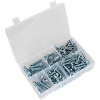 Sealey 144 Piece High Tensile Set Screw Assortment Imperial UNF