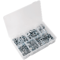 Sealey 1070 Piece Flat Washer Assortment Metric
