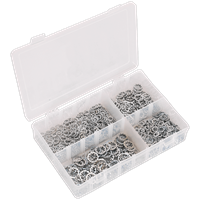 Sealey 1000 Piece Serrated Lock Washer Assortment Metric