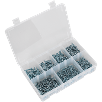 Sealey 500 Piece Pan Head Self Drilling Screw Assortment