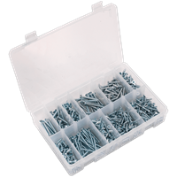 Sealey 600 Piece Countersunk Self Tapping Screw Assortment