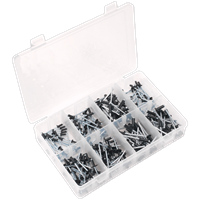 Sealey 200 Piece Black Anodised Rivet Assortment