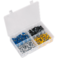 Sealey 200 Piece Number Plate Screw Assortment