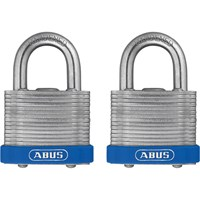 Abus 41 Series Laminated Steel Padlock Pack of 2 Keyed Alike